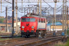 Red locomotive Stock Photography