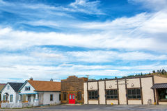 Red Lodge, Montana Main Street Royalty Free Stock Photo