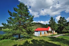 Red Log Cabin Royalty Free Stock Photo