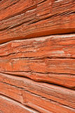 Red log wall Stock Photo