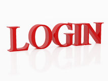 Red login Royalty Free Stock Photography