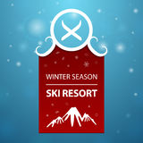 Red logotype winter season ski resort Royalty Free Stock Photography