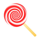 Red lollipop Stock Image