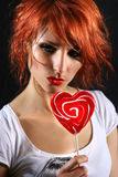Red lollipop Royalty Free Stock Photography