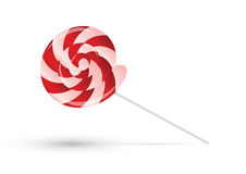Red lollipop with shadow Royalty Free Stock Photography