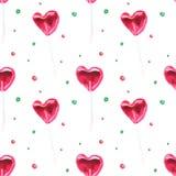Red lollipops pattern stock illustration
