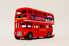 London Bus 1:43 model. A red Londo doubledecker bus model in 1:43 scale Stock Photos