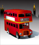 Red london bus Royalty Free Stock Photos
