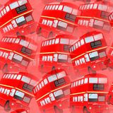 Red London Bus Background Design. A red London bus seamless background design Royalty Free Illustration