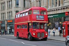 A red London bus Royalty Free Stock Photography
