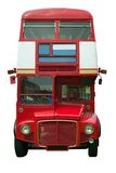 Red London bus profile Stock Photos