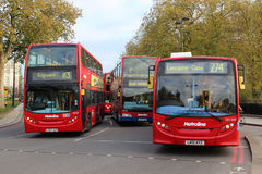 Red London buses near  Marble Arch Stock Images