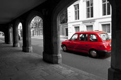 Red London cab. Red cab on the street of London Royalty Free Stock Photo