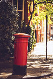 Red London mailbox Stock Photography