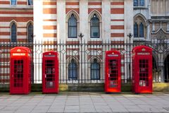 Red London Phone Booths Royalty Free Stock Photos