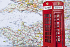 Red London telephone booth Stock Photos