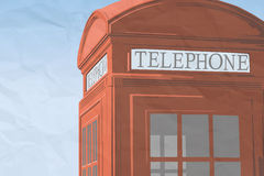 Red london telephone booth. Illustration Royalty Free Stock Image