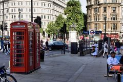 Red London Telephone box Stock Photo
