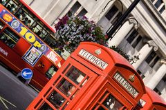 Red London Telephone box Stock Photography