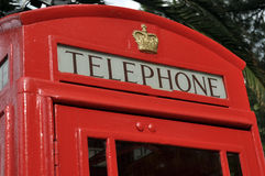 Red London Telephone box Stock Images
