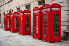 Red London Telephone Boxes stock images