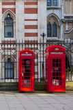 Red London Telephones Royalty Free Stock Image