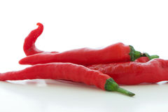 Red Long Cayenne Pepper Stock Image