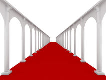 Red longest road Royalty Free Stock Photos
