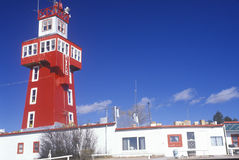 Red lookout tower Stock Image