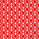 Red Loops Seamless Pattern Background. Long red vintage loops graphical lines pattern. Seamless texture background Royalty Free Stock Photography