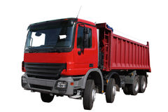 The red lorry stock photography