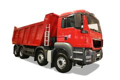 Red lorry Stock Photo