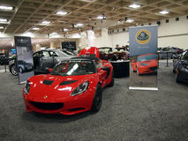 Red Los Gatos Sports car royalty free stock images