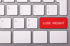 Red LOSE WEIGHT key Stock Images