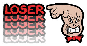 Red loser. Creative design of red loser Stock Images