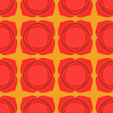 Red lotus geometric seamless pattern Royalty Free Stock Image