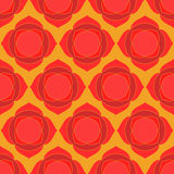 Red lotus geometric seamless pattern Royalty Free Stock Images