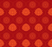 Red lotus seamless background royalty free illustration