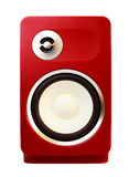 Red loud speaker Stock Photo