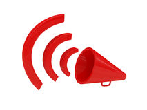 Red loudspeaker royalty free stock image