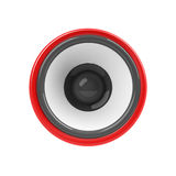 Red loudspeaker isolated Royalty Free Stock Photo