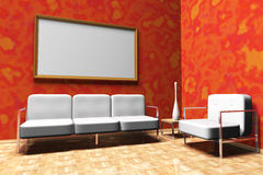 Red lounge Stock Photography