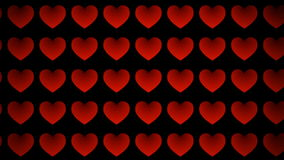 Red love. Love hearts animation motion graphic backgrounds stock footage