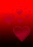Red love background Stock Images