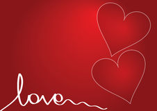 Red Love Background Stock Image