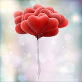 Red love balloons. EPS 10 Stock Images
