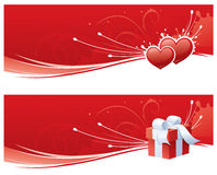 Red Love Banners Stock Images