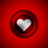 Red Love Bubble Badge Royalty Free Stock Photography