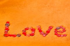Red love buttons Stock Photos