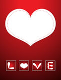 Red Love card Royalty Free Stock Image